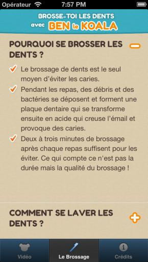 Application screenshot: 2 Brosse-toi les dents avec Ben le Koala [itunes]