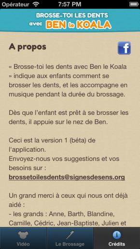 Application screenshot: 3 Brosse-toi les dents avec Ben le Koala [itunes]