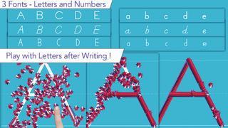 Application screenshot: 4 J'écris en script - apprendre à écrire les caractères d'imprimerie [itunes]