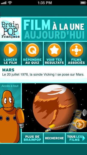 Application screenshot: 1 BrainPOP: Film du Jour [itunes]