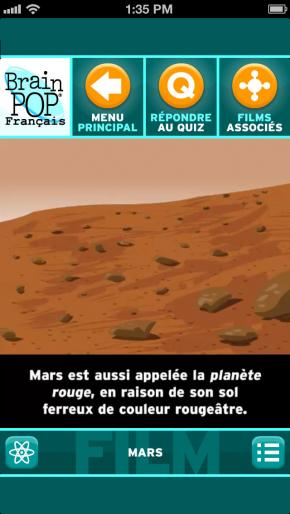 Application screenshot: 2 BrainPOP: Film du Jour [itunes]