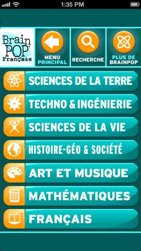 Application screenshot: 4 BrainPOP: Film du Jour [itunes]
