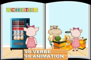 Application screenshot: 1 Animé Verb: Premiers Mots Gratuitement [itunes]