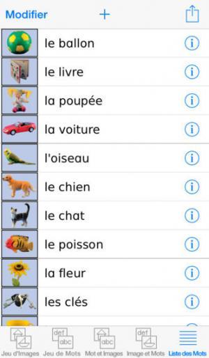 Application screenshot: 3 Mots Spéciaux [itunes]