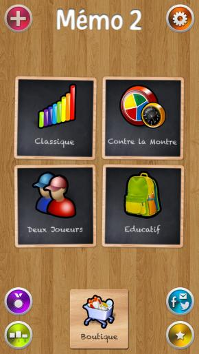 Application screenshot: 1 Memo 2 • Le Jeu de Mémoire Gratuit [itunes]