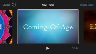 Application screenshot: 3 iMovie [itunes]