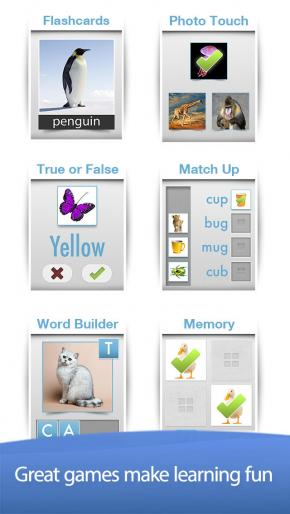 Application screenshot: 1 Bitsboard - Education, Games, and Flashcards for Learning Reading, Spelling, and more [itunes]