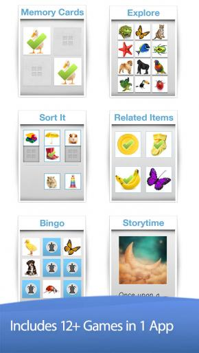 Application screenshot: 3 Bitsboard - Education, Games, and Flashcards for Learning Reading, Spelling, and more [itunes]