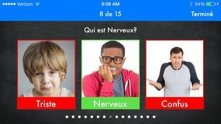 Application screenshot: 4 Découvrons les émotions : émotions et habiletés sociales en éducation spécialisée, thérapie du langage et orthophonie [itunes]