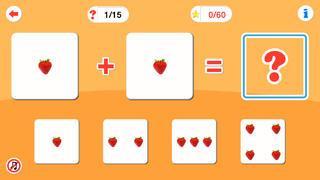 Application screenshot: 5 Arithmétique pour les enfants d'âge préscolaire [itunes]