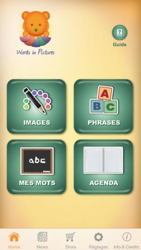 Application screenshot: 1 Words in Pictures [itunes]