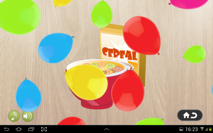 Application screenshot: 2 Puzzle 4 enfants - aliments