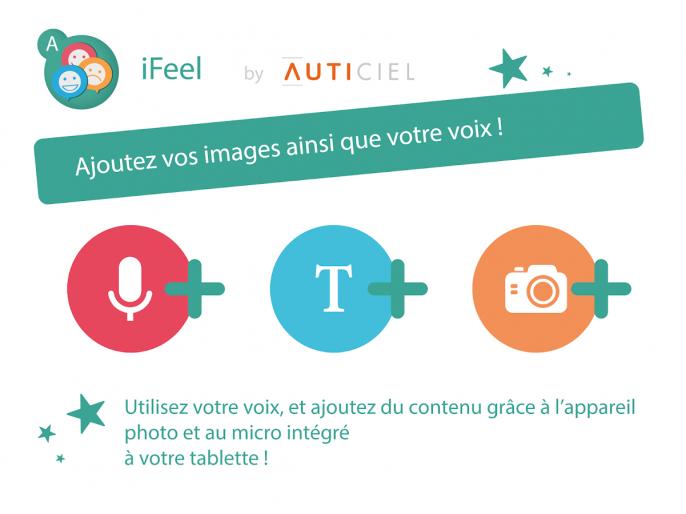 Ajoutez vos images ainsi que votre voix grâce à l'appareil photo et au micro intégrés à la tablette !