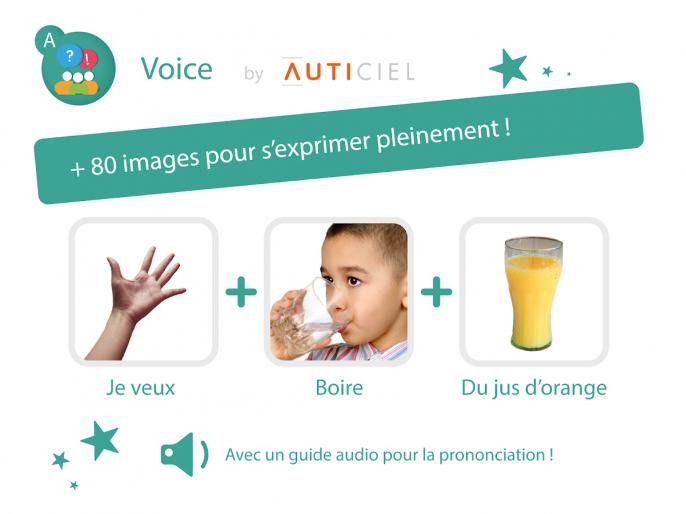 + 80 images pour pouvoir s'exprimer pleinement ! Avec un guide audio pour la prononciation !