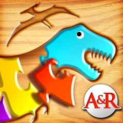 Application logo: Mes Premiers Puzzles en Bois : les Dinosaures - Un jeu de Puzzle pour Enfants pour Apprendre l'Alphabet [itunes]
