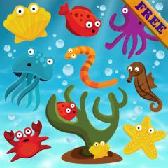 Application logo: Puzzles poissons pour les tout-petits et les enfants GRATUIT - jeux pour enfants - Puzzles pour tout-petits - app pour enfants [itunes]