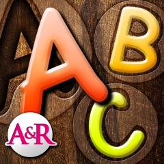 Application logo: Mes premiers puzzles : l'alphabet - un jeu éducatif pour apprendre à vos enfants à reconnaitre les formes des lettres -  1 lettre par puzzle ou 4 lettres en 1 puzzle [itunes]