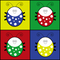 Application logo: The Color Bugs [itunes]