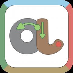 Application logo: J'apprends l'écriture cursive - Méthode auditive, visuelle et verbale [itunes]