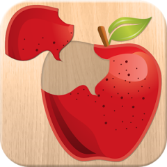Application logo: Puzzle 4 enfants - aliments