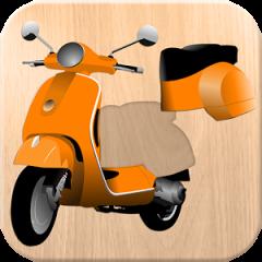 Application logo: Puzzle 4 enfants - voitures