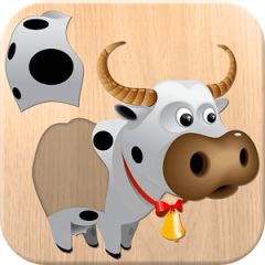 Application logo: Puzzle 4 enfants - animaux